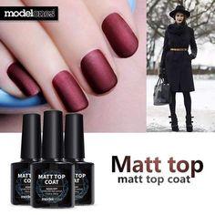Modelones 10ml Matt Matte Top Coat Nail Gel Polish Nail Art Tips Finish Top Gel Long Lasting Gel Polish Lacquer Matt Top Gel
