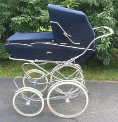 Unused-PEREGO-Venezia-Baby-Carriage-Buggy-Stroller-made-in-Italy-New-NOS-Blue
