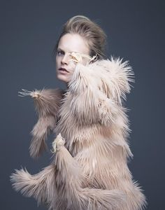 """before you kill us all: COVER & EDITORIAL A Magazine #13 Curated by Iris van Herpen """"Materia Lacrima"""" feat. Hanne Gaby Odiele by Pierre Debusschere"""