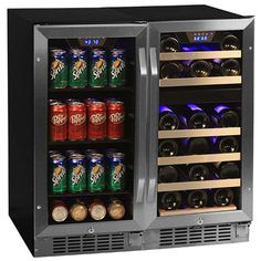 edgestar 26 bottle 80 can sidebyside wine u0026 beverage center