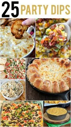25 Party Dips - great collection of appetizer recipes!