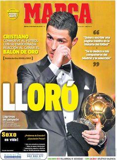 'Lloró'  (Portada del 14 de enero de 2014) #futbol
