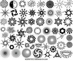 Clipart - tatuaggio, sole, fiamma, tribale, disegno, collezione k22067053 - Cerca Clipart, Illustrazioni murali, Disegni e Immagini grafiche EPS vettoriali - k22067053.eps