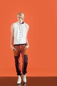 #MANCANDYColour-blocking Pants& shirt [ FW11 ]