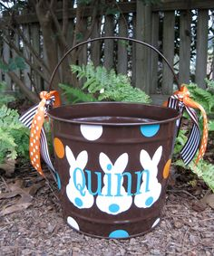 Personalized Easter Bucket 10 QT