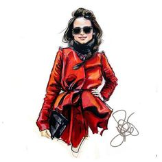 Sketched: 26 Illustrations of Major Fashion Editors | WhoWhatWear