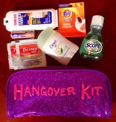 Hangover kit gift for the new 21 year old