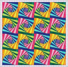 This twisted log cabin quilting block pattern can be made with expert precision by implementing the paper piecing foundation pattern that we present here. Scraps can be used or you can use materials that we have suggested. Our suggested material amounts are an over-exaggeration,