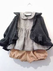 cute kid clothes: bloomers, jacket...