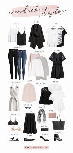 3349df628adcc Fashion Trends Accesories - How to build a capsule wardrobe with closet  staples for Style essentials and minimalist outfit ideas for summer