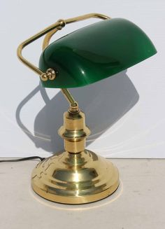 Vintage Brass Bankers Lamp with Green Glass Shade  size: 270 L x 210 W x 370 H  @R1499  Call 076 706 4700  www.furnicape.co.za  1028 Bankers Lamp, Glass Shades, Desk Lamp, Novelty Lamp, Vintage Brass, Shades, Green Glass, Glass, Vintage