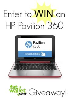Win the HP Pavilion PC:You must be a FatWallet member, but there are plenty of ways to enter. You can earn entries for each type of entry. Comment, tweet, pin, follow us, like us, circle us -- the more you do, the more entries you get! This sweepstake ends on Monday, August 4th - See more at: http://www.fatwallet.com/blog/back-to-school-giveaway-win-an-hp-pavilion-pc/#sthash.wsbMJEHf.dpuf