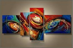 Abstract Artwork, Extra Large Painting, 72 inch Wall Art, Modern Art on Canvas