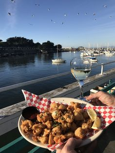 Fried Calamari With A View At Abalonetti Bar Grill Fishermans Wharf Monterey