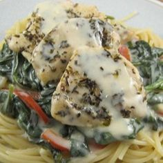 """Light Tuscan Garlic Chicken 