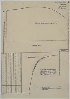 Patroontekening van een hul, type 1943. Op ware grootte getekend. #NoordHolland #Volendam