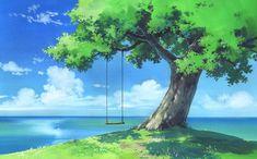 Tree Swing wallpaper