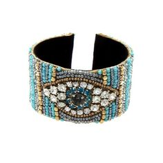 ✨Beautiful Evil Eye Cuff Bracelet ✨ ✨Beautiful Beaded Evil Eye Cuff Bracelet with Rhinestones ✨                                                                               ✨HAMSA ✨ HAND OF FATIMA ✨EVIL EYE JEWELRY-                                                             An amulet that helps banish negative energy. It brings happiness, luck and good fortune to its owners ✨✨✨✨✨✨✨ Jewelry Bracelets