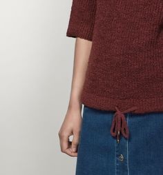 SWEATER WITH DRAWSTRING HEM