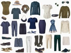Start With... a Plate? A Great Blue, Green and Beige capsule wardrobe