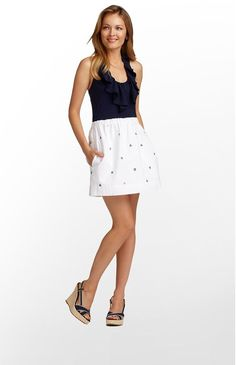 587fa5a9bcc70d Quinn Dress in Resort White Let It Rip Embroidery by Lilly Pulitzer $178  Love To Shop