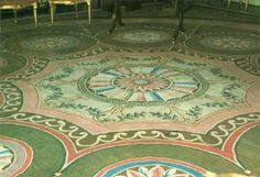 Detail of the Axminster carpet in the music room of Harewood House, c. 1791.