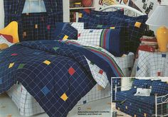 19 Graphically Advanced Bedspreads Of The '80s And '90s