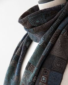 sophie digard | Sophie Digard Crochet / *Sophie Digard 2012AW OP MERINO WOOL SCARF ...  Nice design for a man
