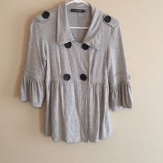 Great 3/4 sleeve jacket Super cute 3/4 sleeve double Brest button up. Wear as a top or dress up an outfit and use it as a jacket. Highstreet Tops