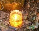 DIY tutorial for an oil lamp (uses mason jar and vegetable oil plus misc. supplies)