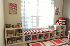 Ikea KALLAX Custom Cushion, Playroom Cushion , Nursery Bench Seat , Organization Bench Seat , Mudroom Cushion Ikea KALLAX Custom Cushion Playroom by HearthandHomeStore Cushions Ikea, Seat Cushions, Blue Cushions, Ikea Expedit, Expedit Regal, Playroom Organization, Ikea Playroom, Playroom Bench, Kids Playroom Storage