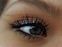 glitter eyeliner for a little sparkle