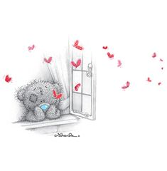 Tatty Teddy and butterflies ... 1 of 3