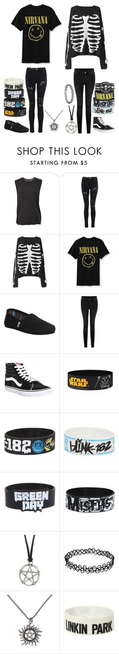 Outfits for my fanfictions #3 by katlanacross ❤ liked on Polyvore featuring TOMS, Vans and Blink