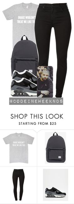 """""""12/18/15"""" by codeineweeknds ❤ liked on Polyvore featuring Herschel Supply Co., NIKE, women's clothing, women, female, woman, misses and juniors"""