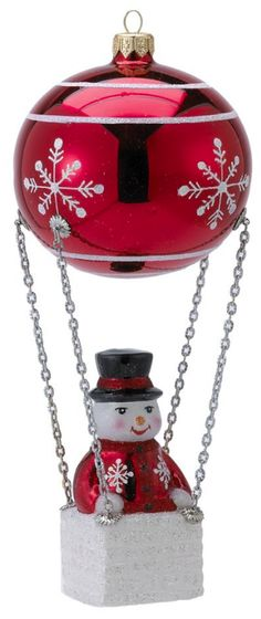 David Strand Kurt Adler Glass Frosty Skies Snowflakes Ornament, 8.7-Inch - Christmas - kerstmis - holidays