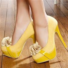 Yellow Modatoi heels