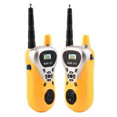 2 Stücke Elektronische Walkie Talkie Spielzeug Elektronische Portable Two-Way Radio Set Sprech Spy Gadgets Intercom Kinder Kinder Spy spielzeug