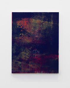"""Israel Lund - Untitled (BB #4), 2013 - 44 x 34"""" inches - Acrylic on raw canvas"""