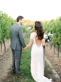 """""""The most standout moment for me was walking down the aisle during our ceremony. Our Wedding Day, Wedding Signs, Vineland Estates, Philosophy Dresses, Groom Ring, Low Back Dresses, Vineyard Wedding, Bridesmaid Dresses, Wedding Dresses"""