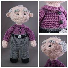 crochet pattern: Grandpa pattern by DeliciousCrochet. Crochet Doll Pattern, Crochet Toys Patterns, Amigurumi Patterns, Stuffed Toys Patterns, Amigurumi Doll, Doll Patterns, Cute Crochet, Crochet Crafts, Crochet Baby