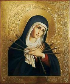 Catholic Feasts and Devotions - Devotion to the Seven Sorrows of Our Lady Blessed Mother Mary, Divine Mother, Blessed Virgin Mary, 7 Sorrows Of Mary, Our Lady Of Sorrows, Catholic Prayers, Catholic Art, Religious Images, Religious Art