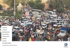 Volkswagen Print Advert By DDB: Total Mess - Bolivia, India, Nigeria Volkswagen, Advertising Awards, Great Ads, Communication Art, Traffic Light, Am Meer, Public Service, Creative, Travel