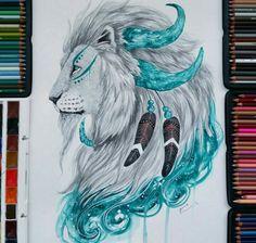 Картинка с тегом «drawing, lion, and art»