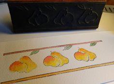 Frise de poires-Apple / / Français Old School timbre par ruefedor
