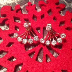 Rose Gold Hanging Rhinestone Earrings