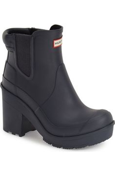38d22c39621a Hunter  Original - Block Heel  Chelsea Rain Boot (Women) available at