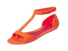 Vegan Shoes & Bags: Optical Sandal by Melissa in Orange