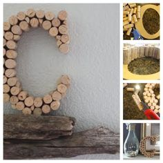Glue the corks to a letter base (available at Hobby Lobby). Cut corks to fit into any remaining gaps. This tutorial is a great guide.