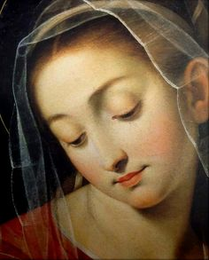 A close up of the image of the Mother of Divine Providence in the church of the Barnabite fathers, Rome.